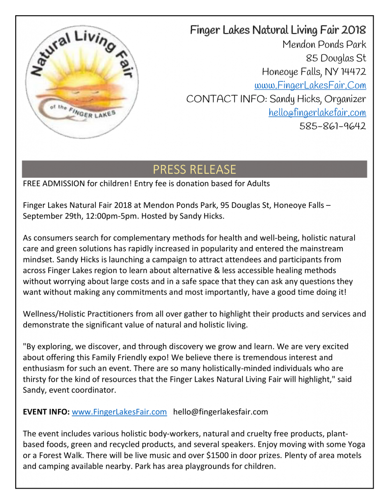 Finger Lakes Natural Holistic Expo